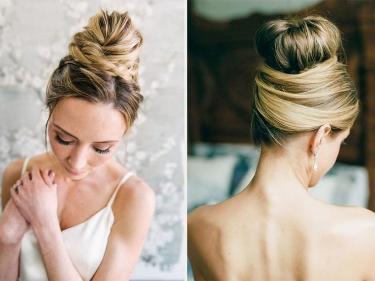 Peinados recogidos para bodas 2017 - Peinados de novia con flequillo ...