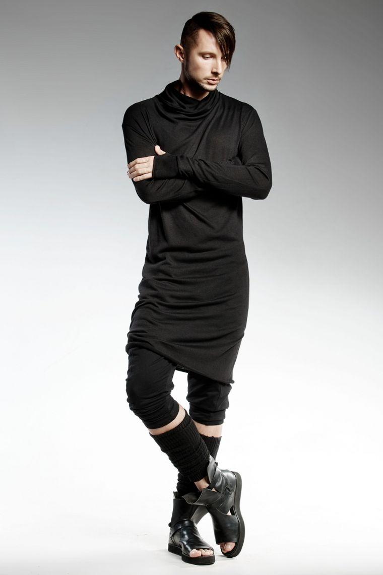 ropa de moda Pendari sueter largo moderno negro ideas