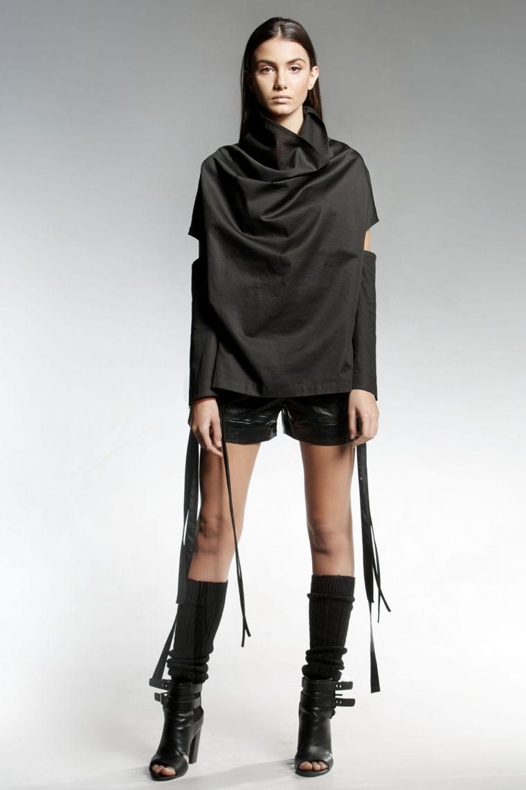 ropa de moda Pendari top negro diseno eldarion ideas