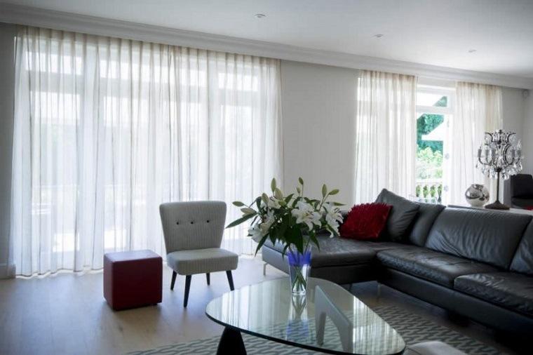 cortinas largas color blanco