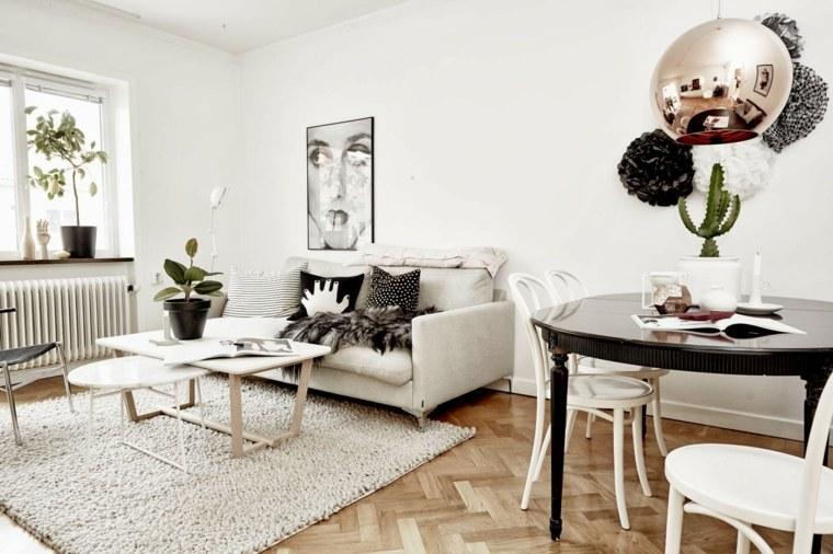 Salones de dise o estilo n rdico y chic en 36 fotos bellas - Salones estilo escandinavo ...