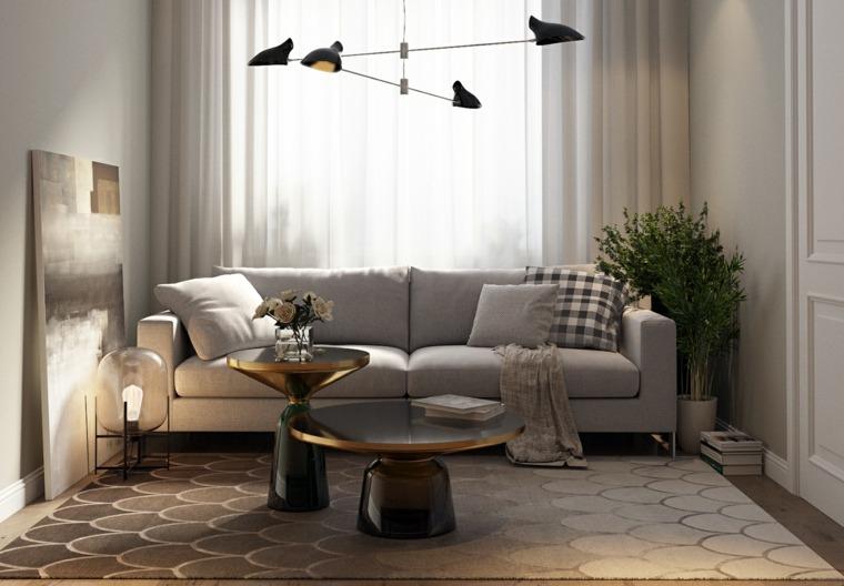 salon pequeno diseno moderno Alexey Gulesha ideas