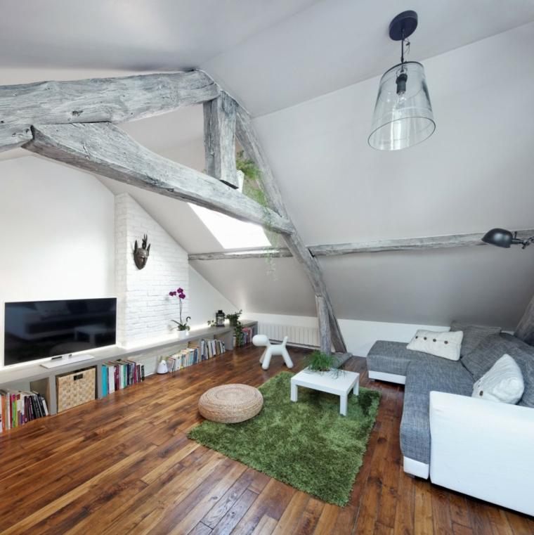 salon verdes paredes conceptos muebles cristales