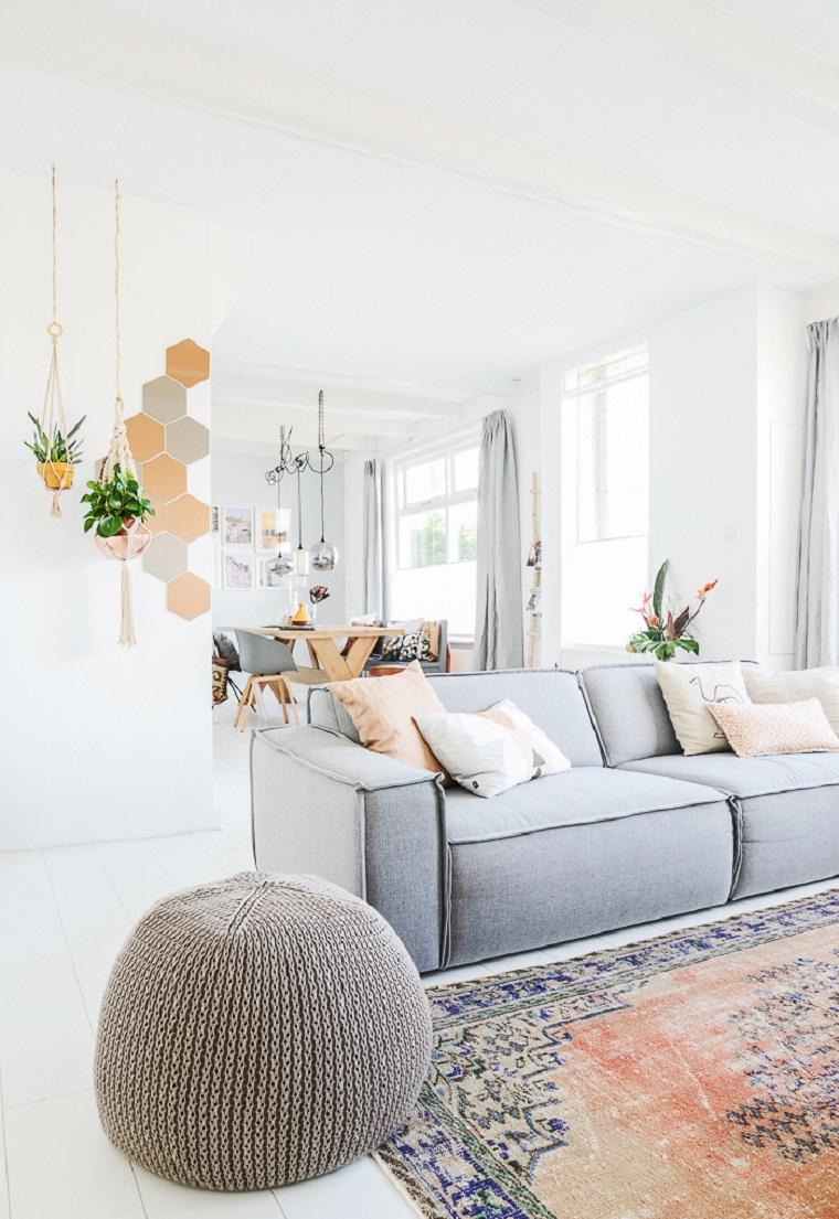 Salones de dise o estilo n rdico y chic en 36 fotos bellas for Alfombras estilo escandinavo