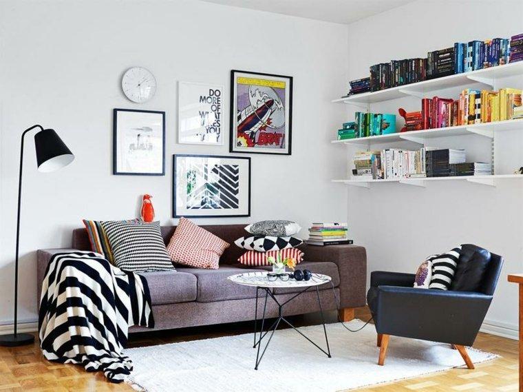 salones de diseno estilo nordico detalles coloridos ideas