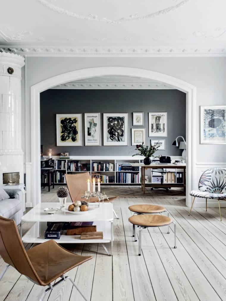 salones de diseno estilo nordico espacios amplio ideas