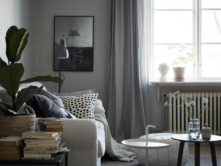 salones de diseno estilo nordico estilo gris ideas