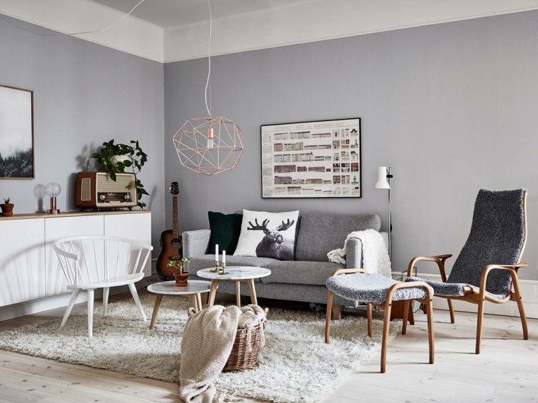 salones de diseno estilo nordico muebles madera detalles ideas