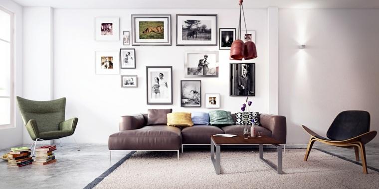 salones de diseño estilo nórdico sillones originales ideas