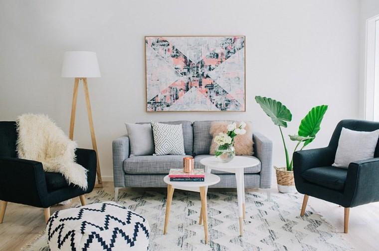 salones de diseño estilo nórdico toque colores apagados ideas