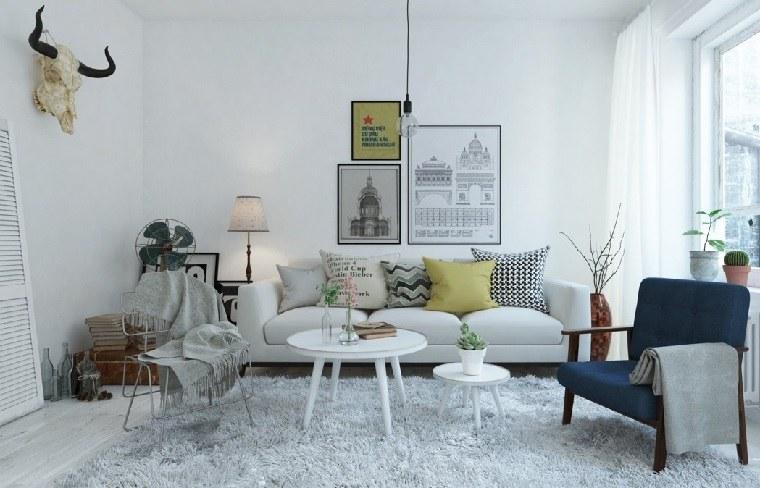 salones de diseño estilo nórdico alfombra bellas espacio estilo ideas