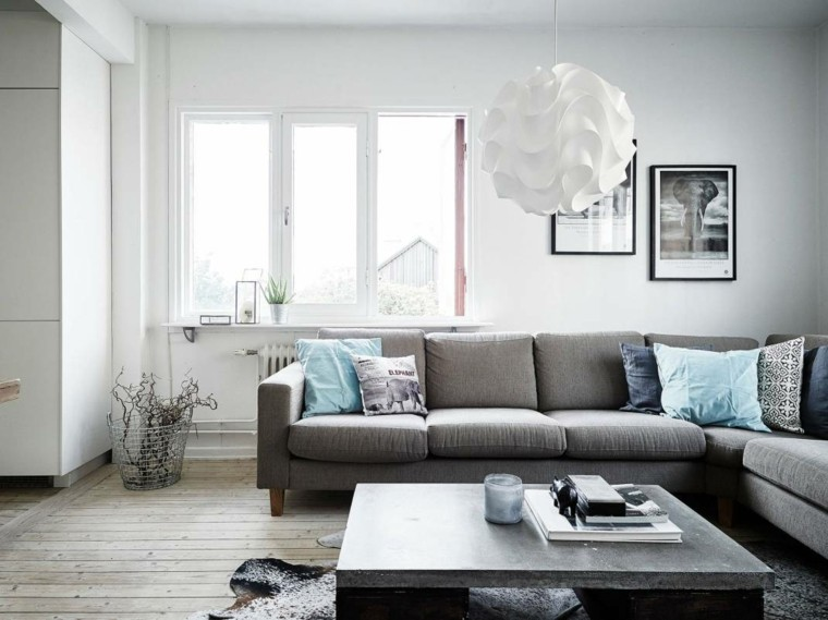 salones estilo nordico apartamento luminoso ideas