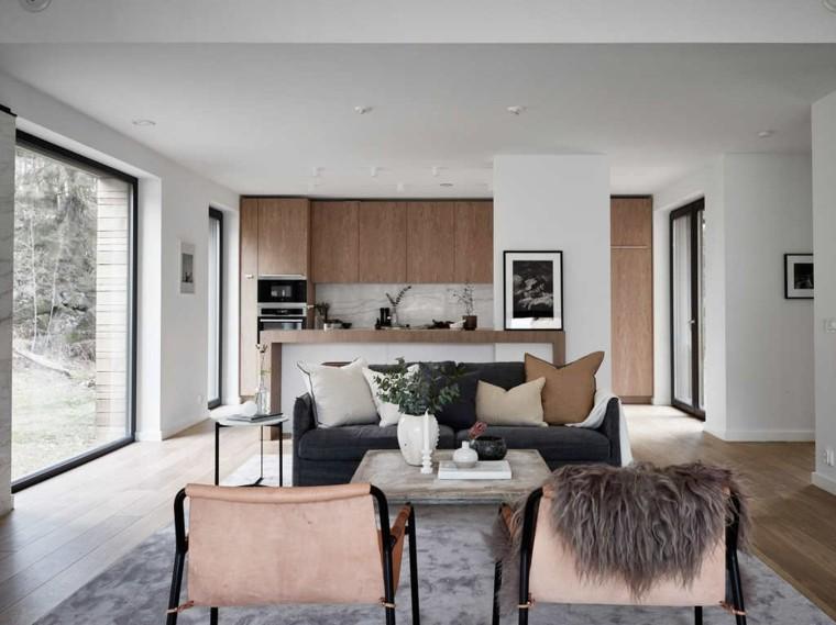 Salones con estilo beautiful post sin miedo a los sofs for Salones modernos estilo nordico