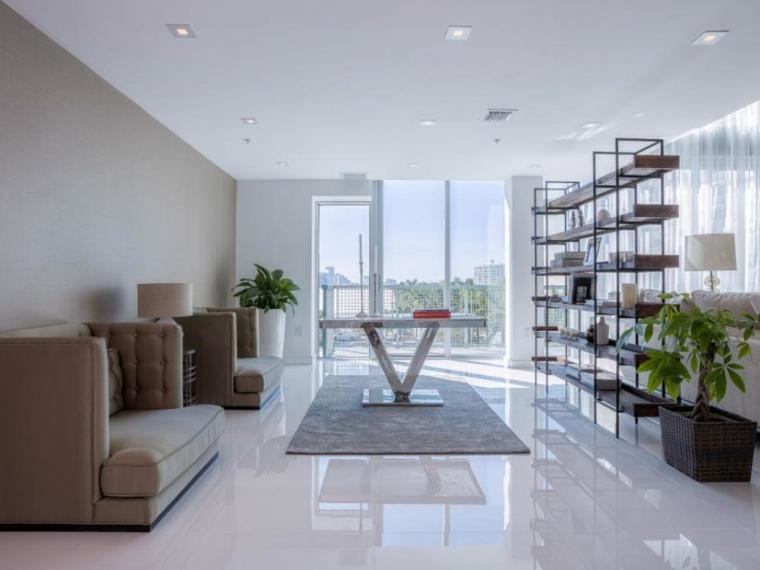 salones modernos ideas alargados estantes maderas