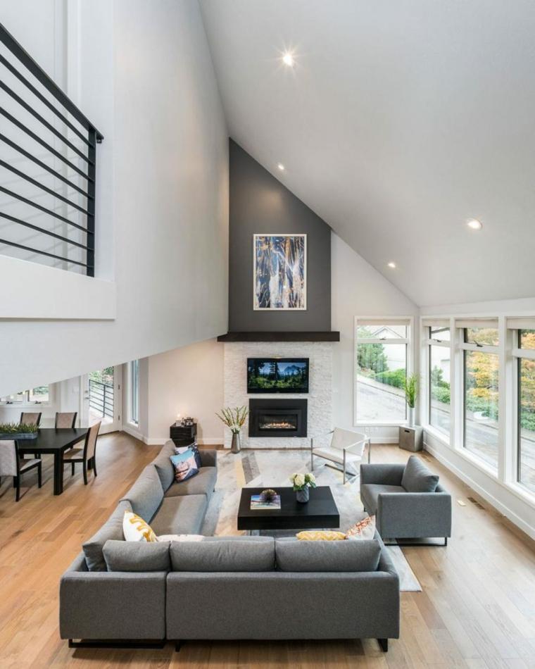 seleccion muebles grises paredes color
