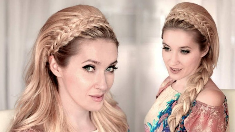 semirecogidos con trenzas dos opciones peinado fiesta ideas