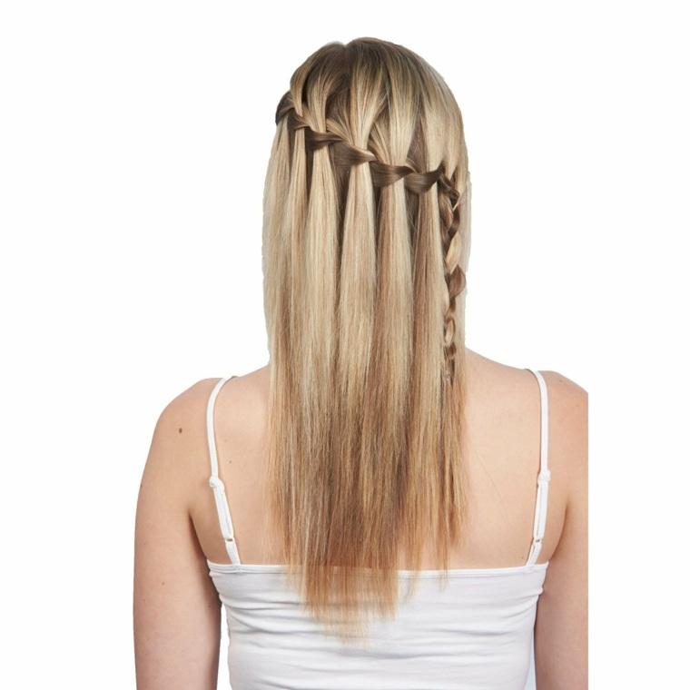 semirecogidos con trenzas estilo peinado original ideas