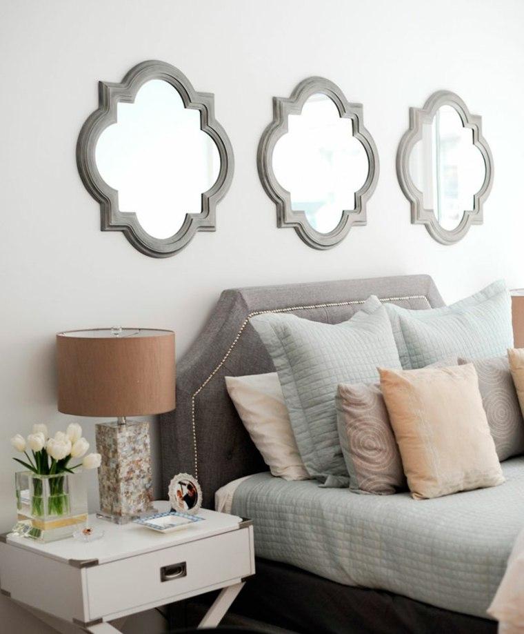 sobre cabecero pared decorativo efecto grises