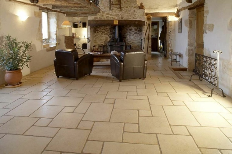 suelos de cerámica rústicos