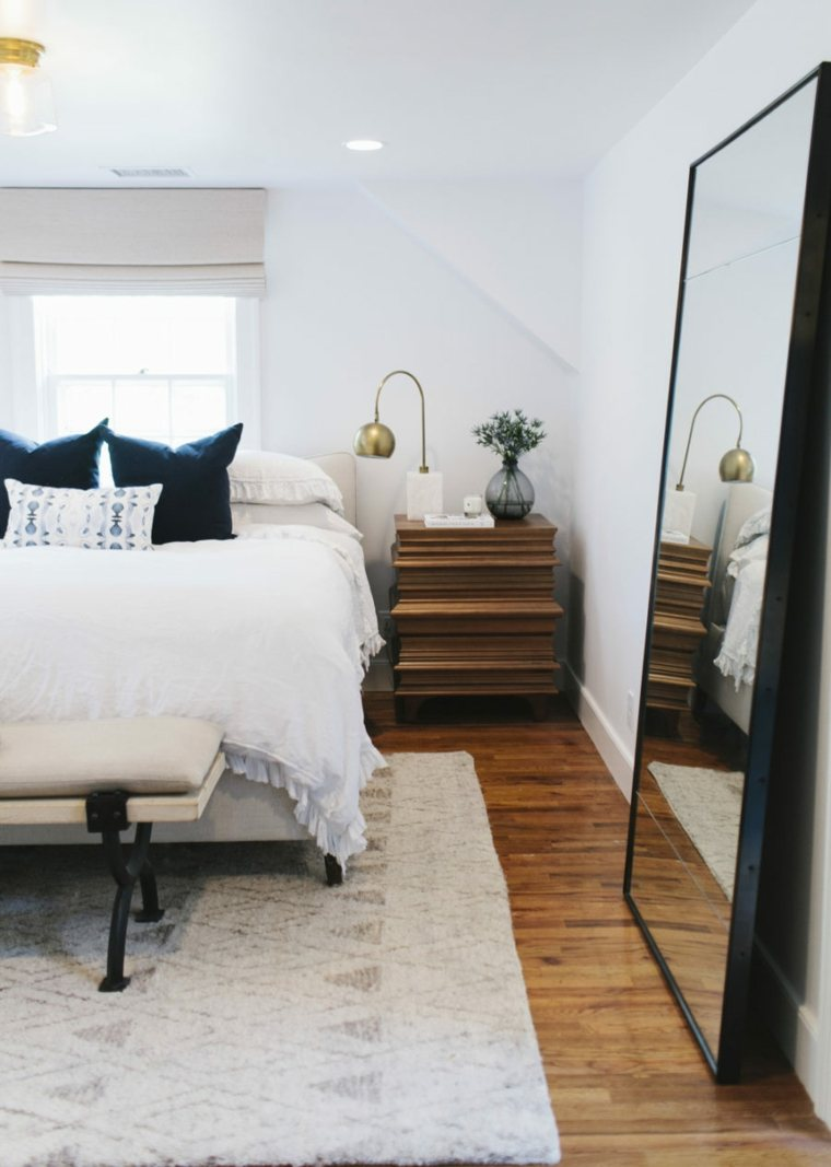 suelos madera tono oscuro alfombras meubles