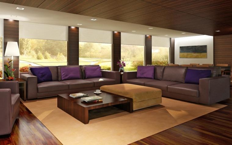 suelos rústicos interior decorar salón