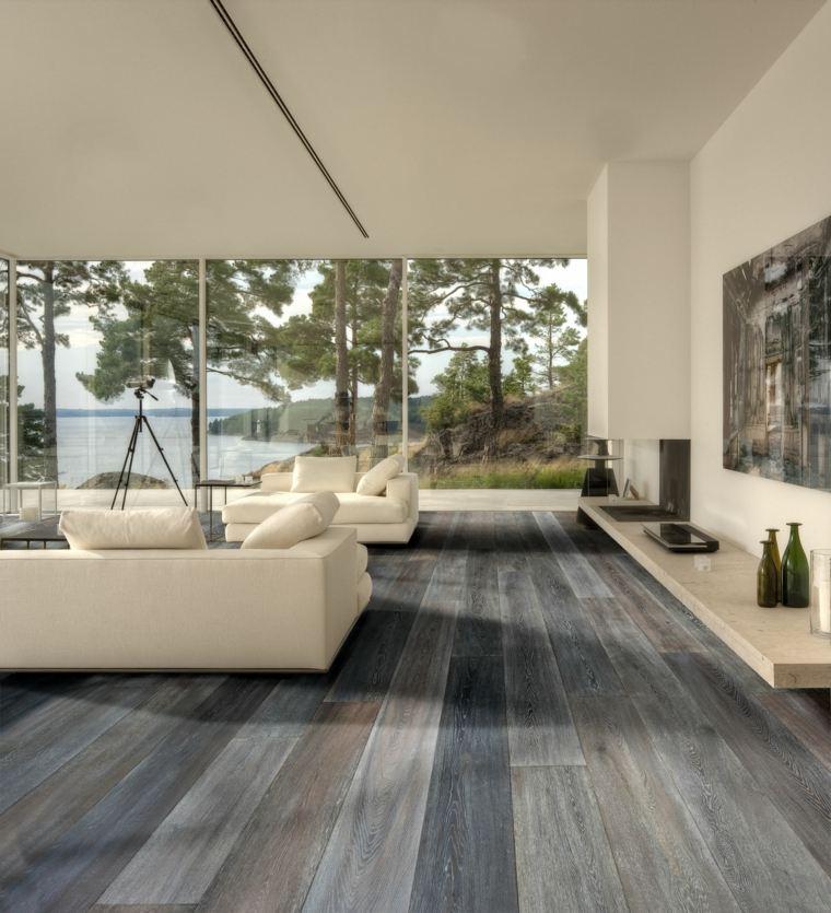 suelos rústicos interior salón moderno