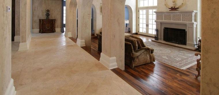 Suelos r sticos interior para decorar vuestras casas - Suelos para salon ...