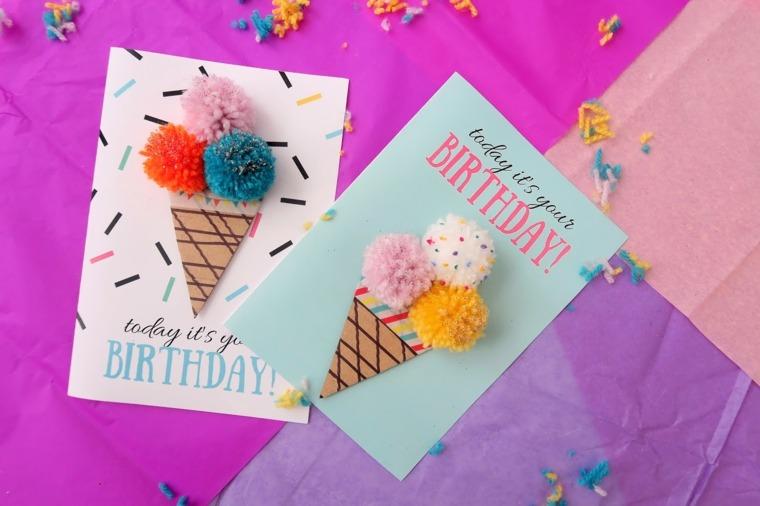 Tarjetas de cumplea os diy ideas creativas y dise os for Disenos para tarjetas