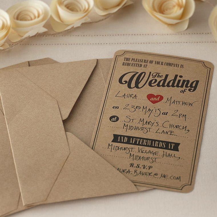 tarjetas de boda vintage decorar