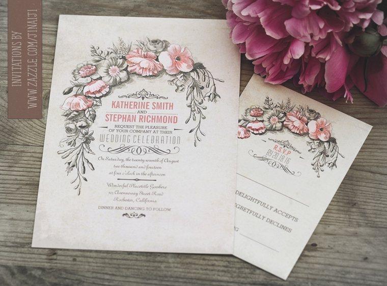 tarjetas de boda vintage