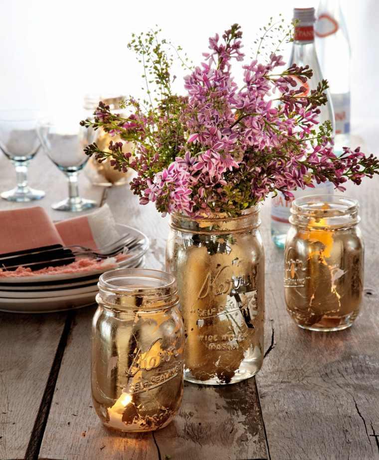 tarros bonitos cristal flores decoracion original ideas