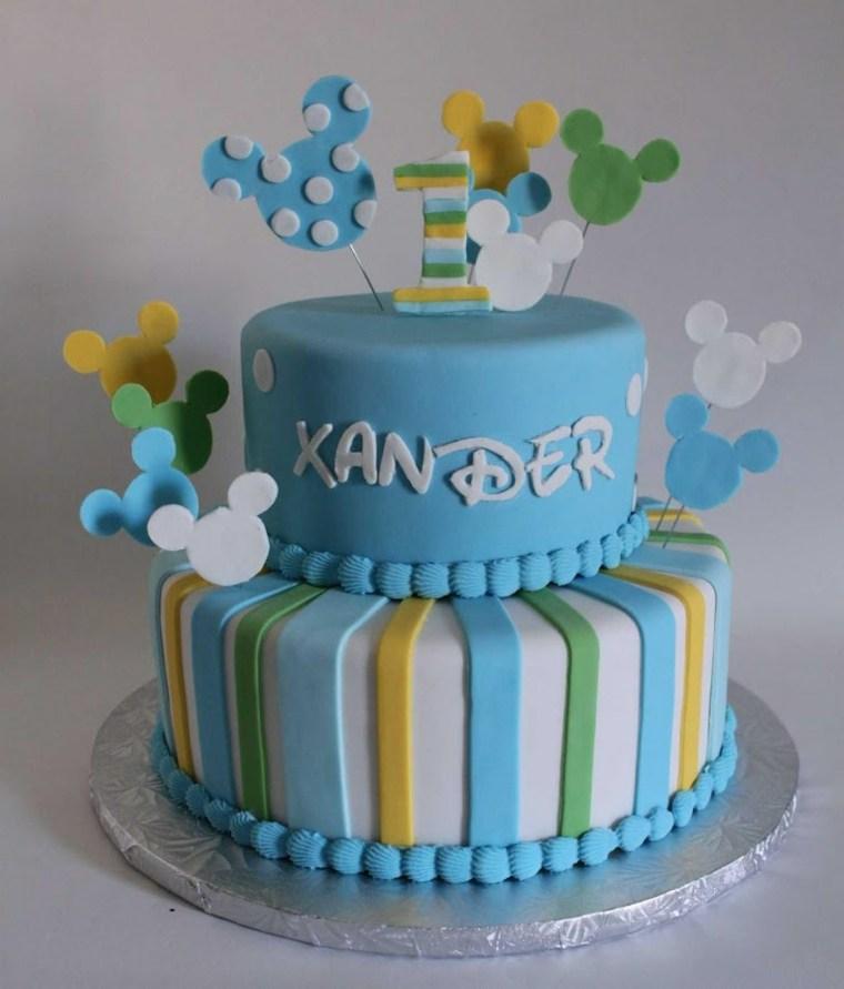 tartas de cumpleaños chico decoraciones coloridos