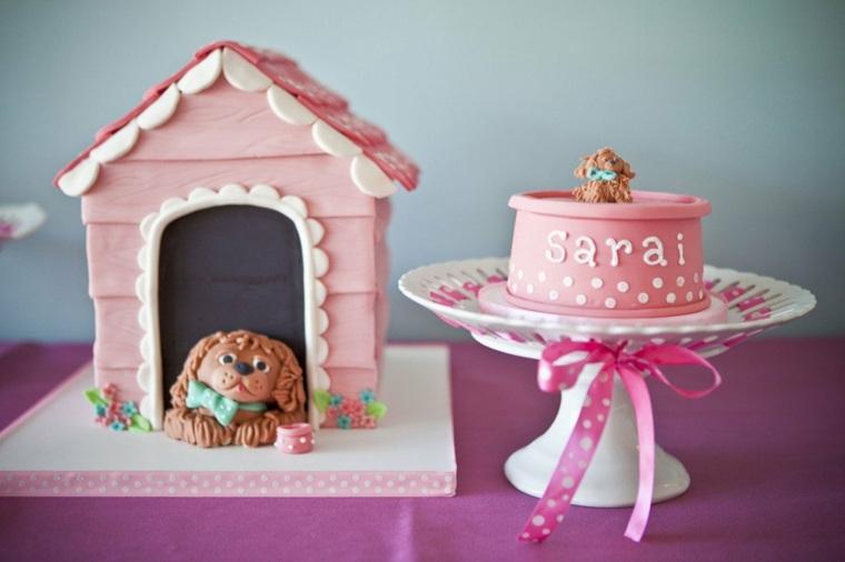 tartas de cumpleaños composicion dulces chicas