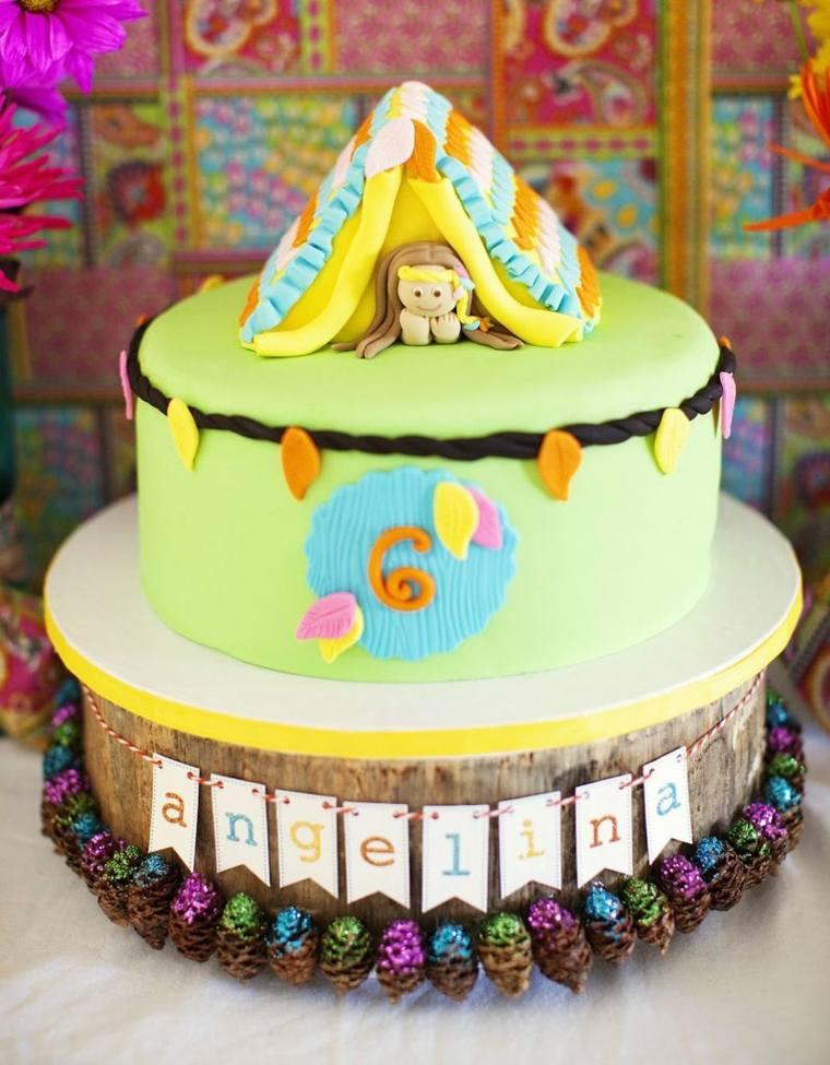 tartas de cumpleaños nina especial colorida