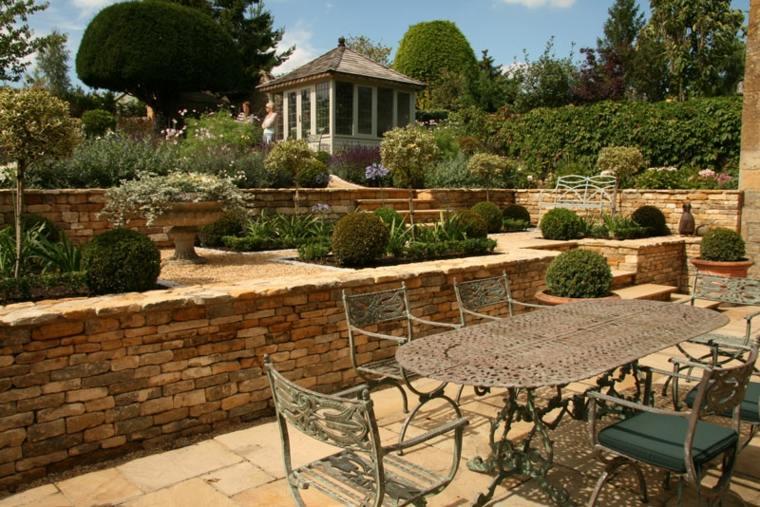 terrazas jardin estilo clasico