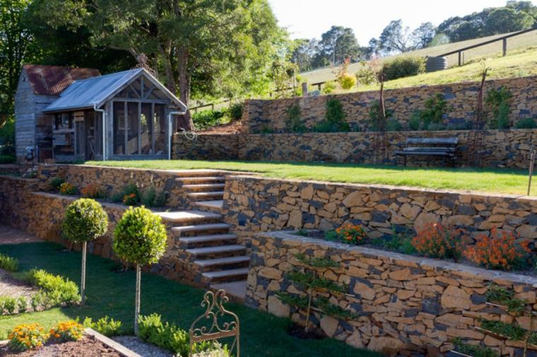 terrazas piedras jardin grande