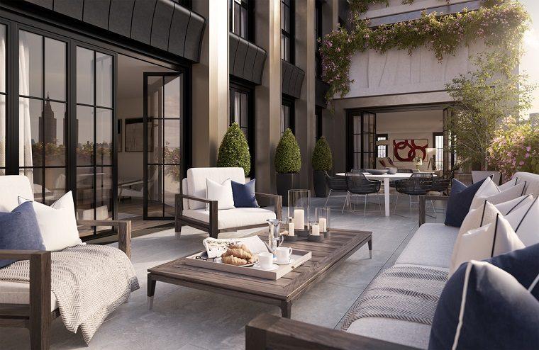 terraza amplia muebles bellos estilo ideas
