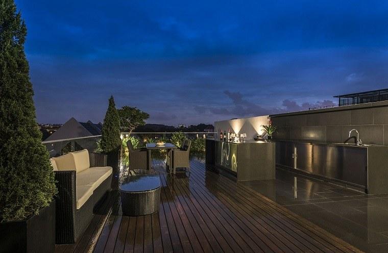 Terrazas de dise o 25 ejemplos de espacios muy atractivos - Construir habitacion en terraza de atico ...