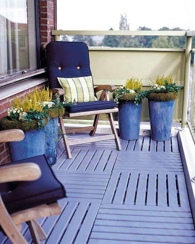 terraza suelo color azul marino