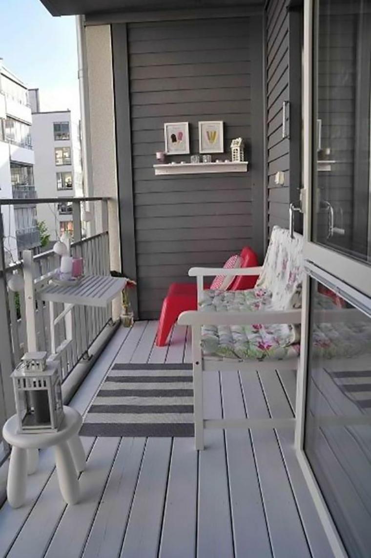 terraza moderna de color gris