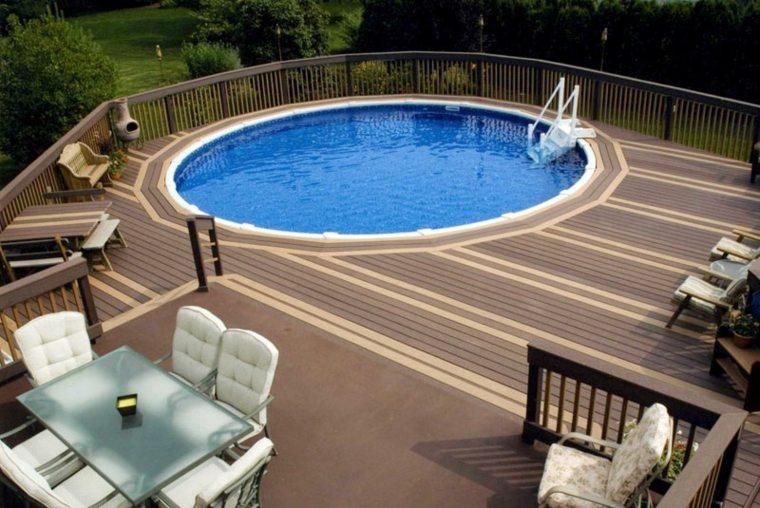 terrazas con piscinas