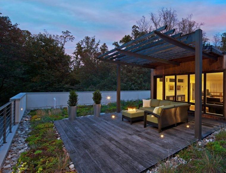 terrazas de diseno madera estilo pergola opciones ideas