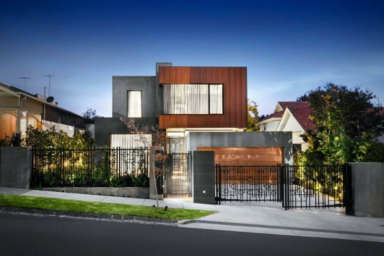 vallas metalicas madera hormigon piedra Bagnato Architects ideas