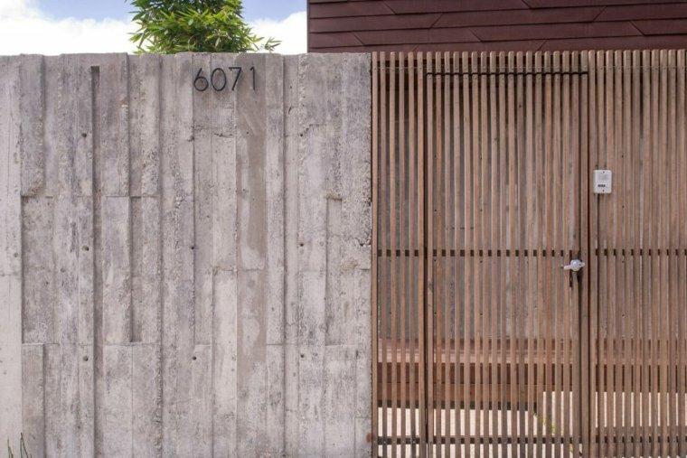 vallas metalicas madera hormigon piedra Casa tijuana mexico Gracia Studio idea