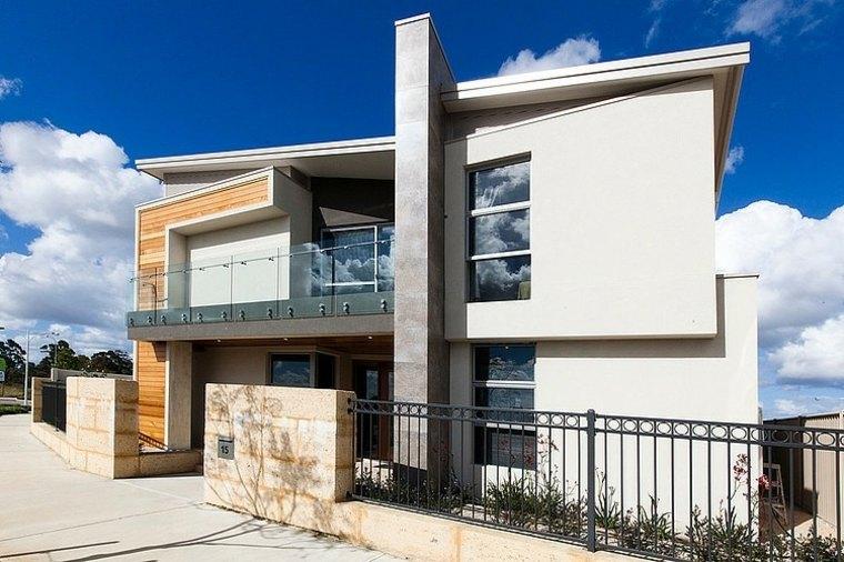vallas metalicas madera hormigon piedra Eclipse Homes ideas