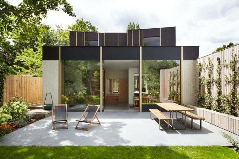 vallas metalicas madera hormigon piedra Edgley Design ideas
