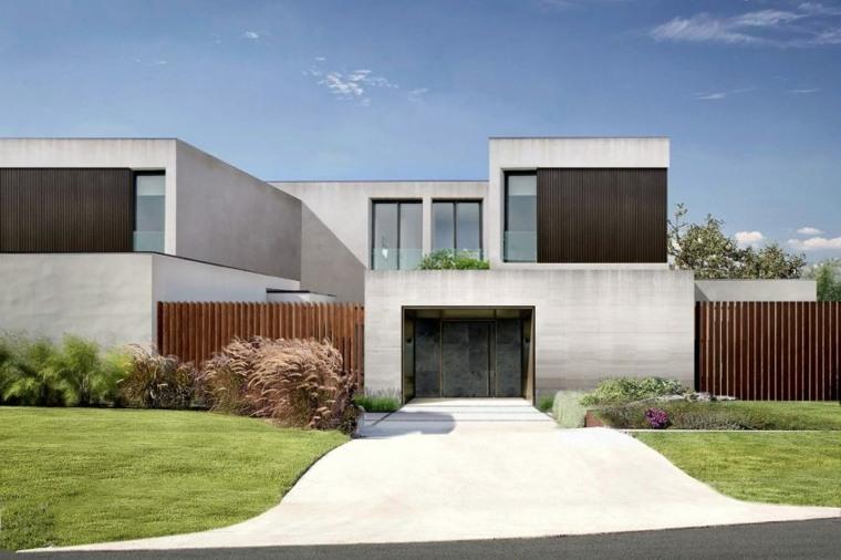 vallas metalicas madera hormigon piedra casa Wolf Architects ideas