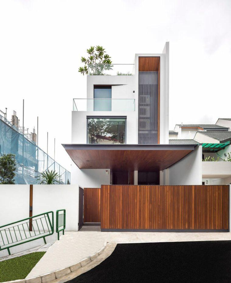 vallas metalicas madera hormigon piedra Ming Architects ideas