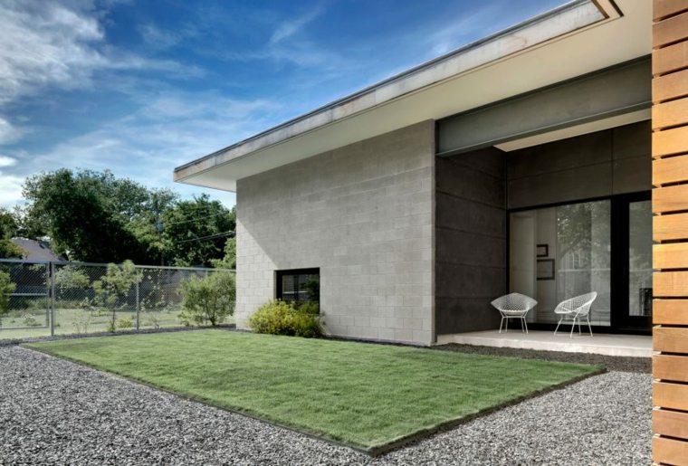 Vallas metalicas de madera hormig n y piedra 40 ideas - Vallas metalicas jardin ...
