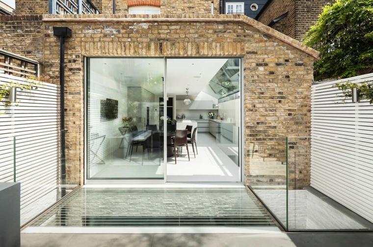 vallas metalicas madera hormigon piedra vallas blancas Jo Cowen Architects ideas